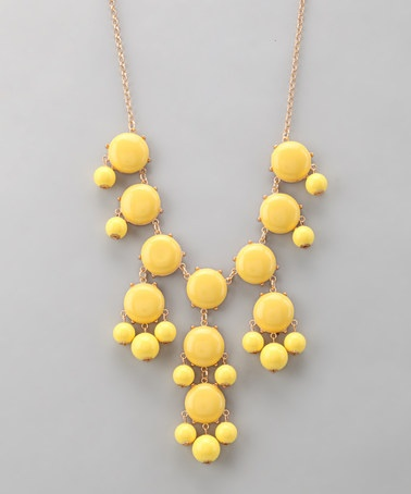 Polka Dotsy Yellow Bubble Necklace on #zulily today!