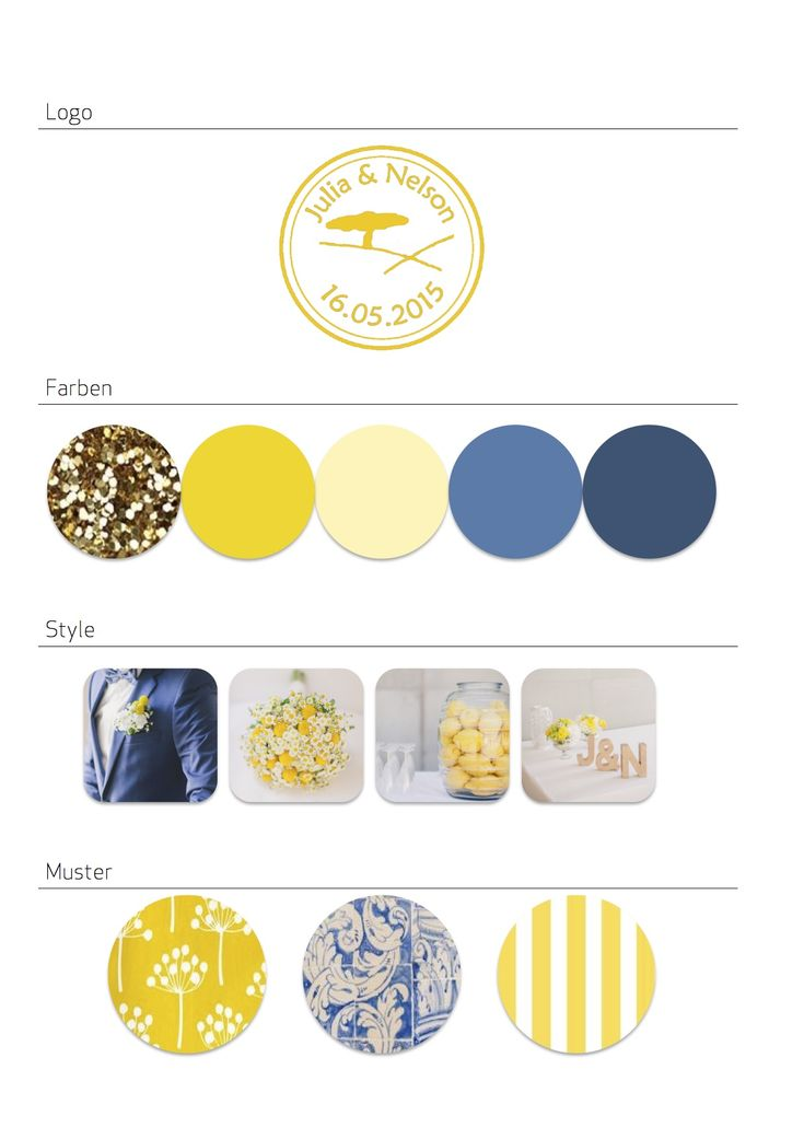 Rustikale Frühlings-Hochzeit in gelb, blau und gold