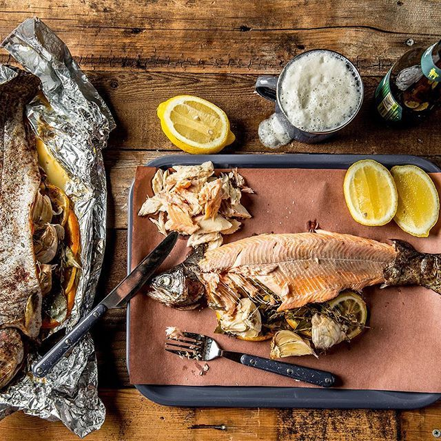 how to cook brown trout on grill