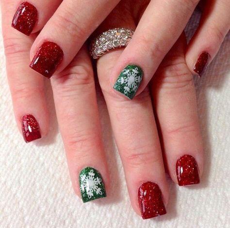 41 ideas holiday nails christmas dip powder
