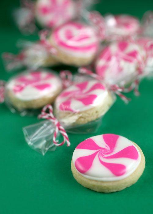 Peppermint Sugar Cookies!  A cute Christmas bake