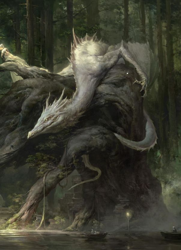 Hard in Hightown 3: the Re-punchening, fantasy-art-engine: White Dragons by Xiaodi