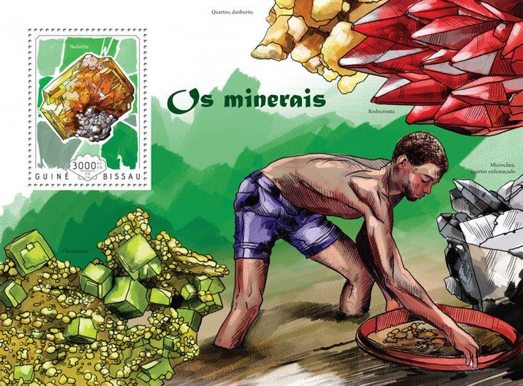 Post stamp Guinea-Bissau GB 14602 bMinerals (Nadorite)
