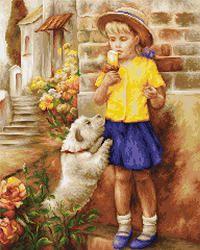 B527 El sabor del helado €31.60  Kit punto de cruz Marca: Luca-S Col.: 46 Dim.: 32*38cm Aida: 16
