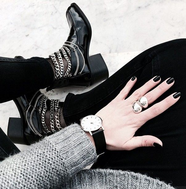 basic black + grey