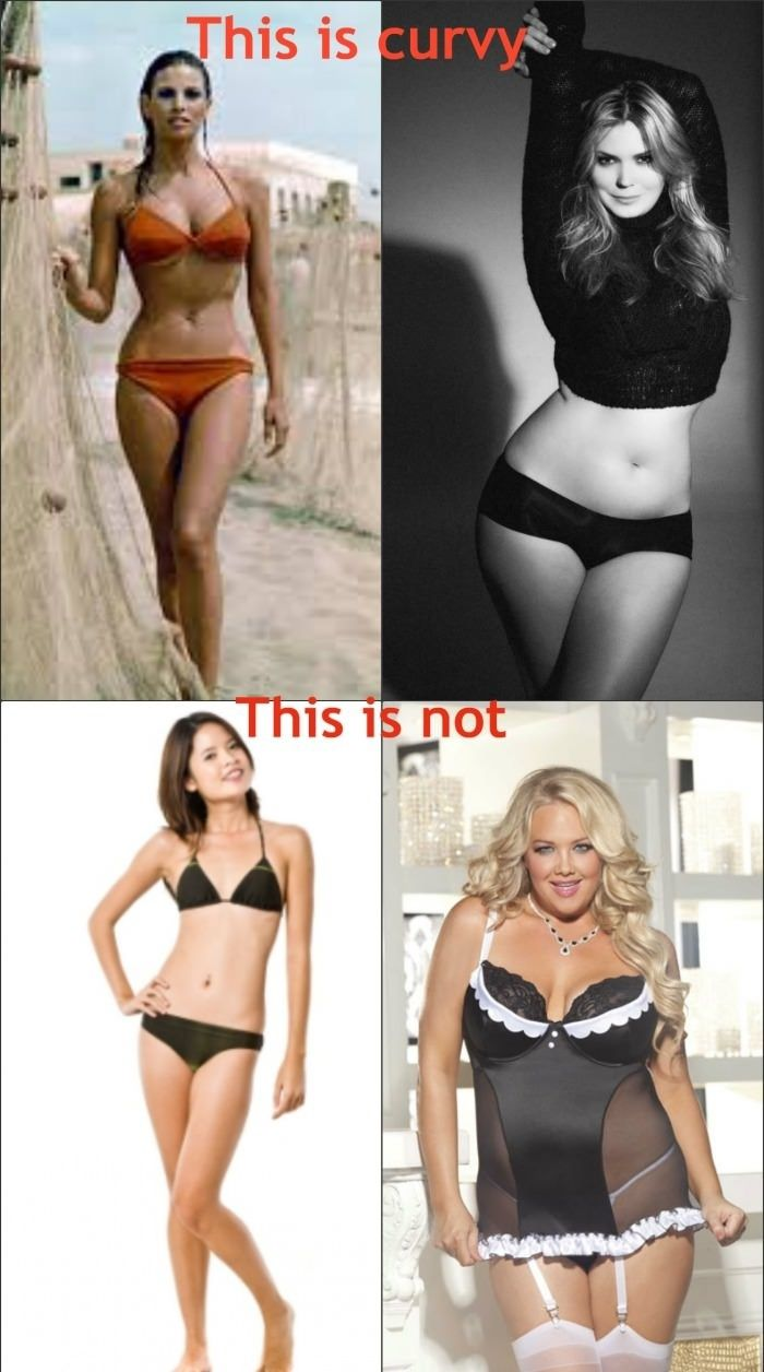 Curvy is a shape, not a size