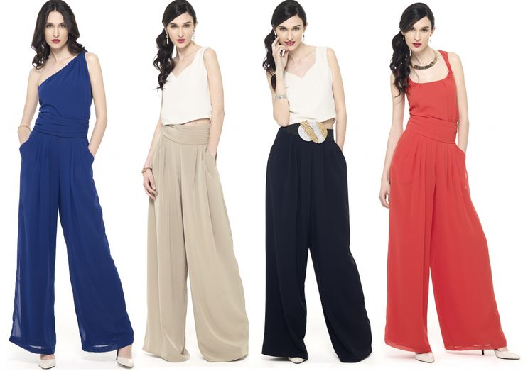 pantalones palazzo perfectos para bodas de día y de noche. Mira cuántos puedes alquilar en la mas mona.