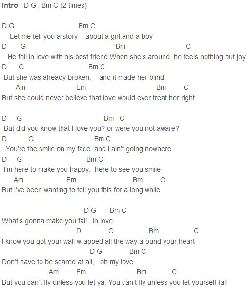 Warrior Demi Lovato Lyrics And Chords: Justin Bieber - Fall (Live) Chords Capo 1