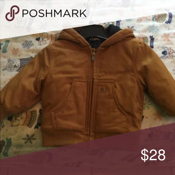 Carharrt winter toddler jacket Only worn once beautiful Carmel brown Carhartt winter jacket toddler Carhartt Jackets & Coats