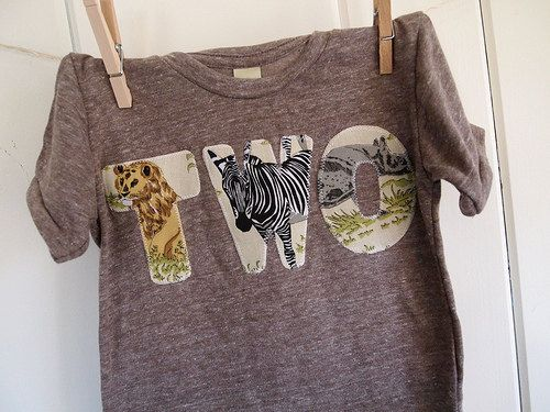"""@Chrissy Green I have seen this """"style"""" twice now and I really like it...using fabric with the theme from the birthday party for the word instead of the number"""