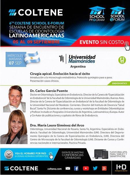 HOY !! 7 de septiembre Dr. Carlos García Puente y Dra. María Laura Giménez del Arco Cirugía Apical. Evolución hacia el éxito  INSCRIBITE ONLINE https://attendee.gotowebinar.com/register/6705211509965240578