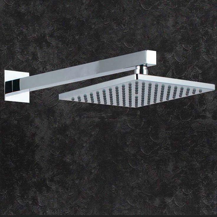 Wall Mount Chrome Finish Square Rain Shower Head + Shower Arm //Price: $58.50 & FREE Shipping //     #Bath #Shower #ModernShowerIdeas