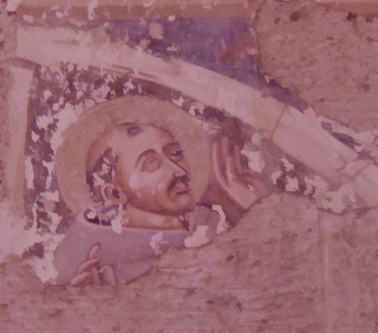 Sovana, Tuscany - Fresco on the wall of the Duomo #sovana, #tuscany