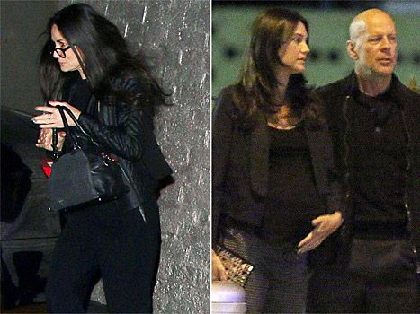 Demi Moore, Emma Hemming and Bruce Willis on April 5, 2014
