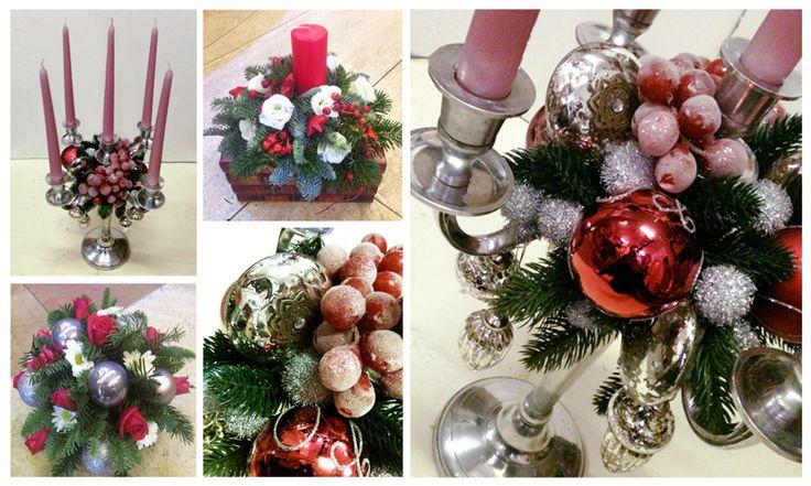 Pink Flowers Arrangements for Christmas. Composizioni Natale 2016. Decorazioni Natalizie Roma: www.laflorealedistefania.it #fioristaroma #decorazioninatale #laflorealedistefania #fattoamano #handmade #christamsdecorations #christmaswreath #christmas2016 #xmas2016 #homedecor #florist #flowerarrangements #candele #candels #candelabro