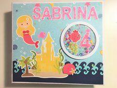 Mermaid themed scrapbook - Sabrina