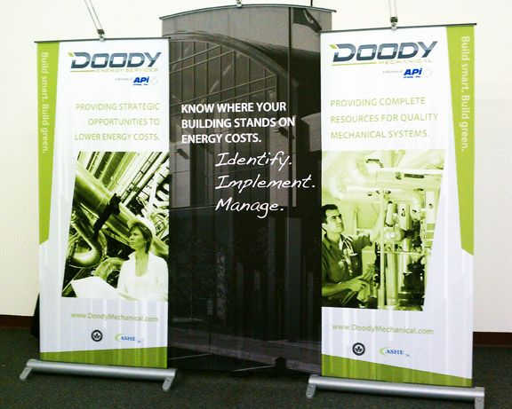 compelling trade show banner