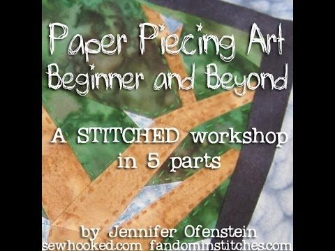 Paper Piecing Art: Beginner  Beyond, a STITCHED 2012 Workshop Video-38:58 mins.Workshop- 5 parts  Foundation pieced quilts, sometimes called paper pieced quilts, are made by sewing pieces of fabric onto a temporary or permanent foundation. Watch my 2012 STITCHED Workshop, Paper Piecing Art: Beginner  Beyond for free. :) You can find Waiting for Rain, the pattern used in the video in my Craftsy shop for just $4.