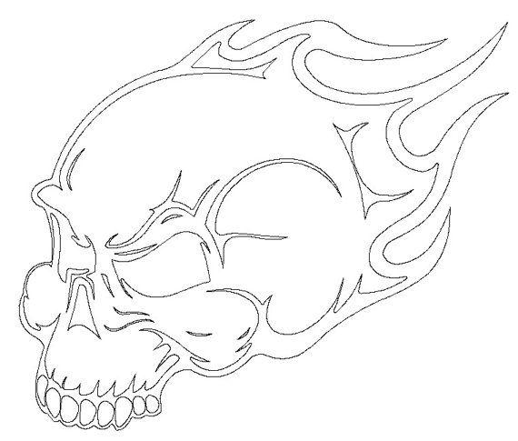 Flame skull dxf file for cnc plasma router waterjet laser machine more cnc plasma ideas - Dessin dxf gratuit ...