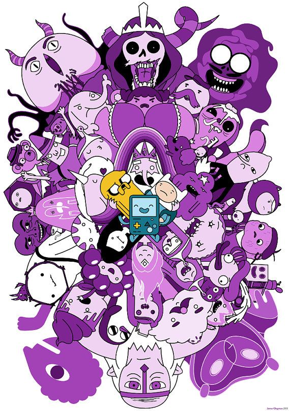 Adventure Time Characters Poster | James Chapman