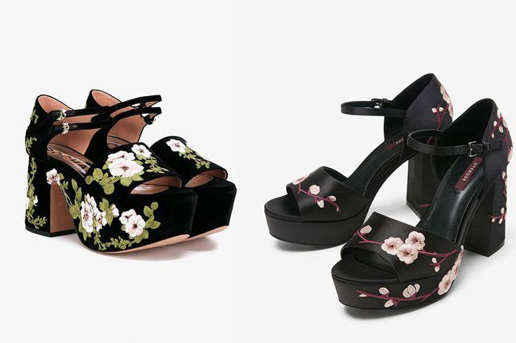 Sandalias florales http://stylelovely.com/entutiendamecole/2017/01/sandalias-florales-rochas-uterque