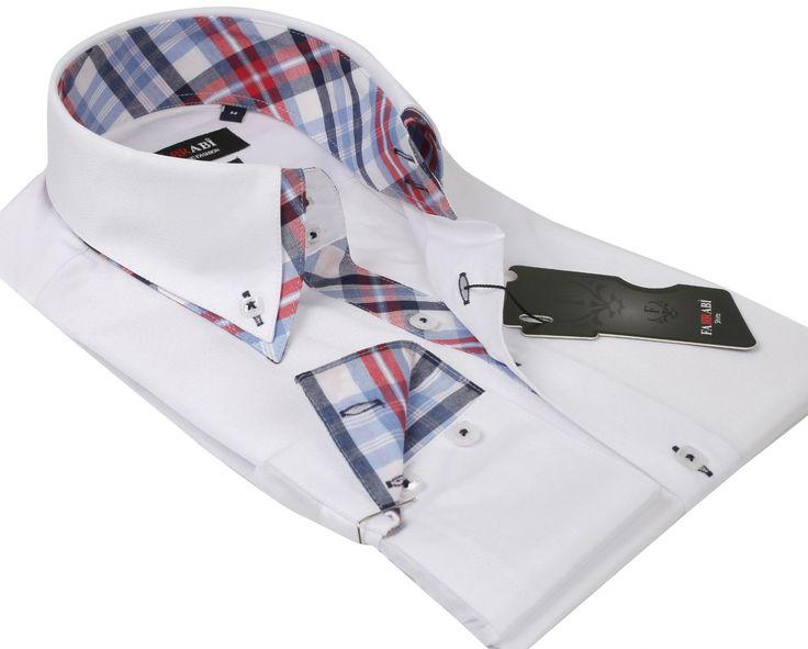F5 White Shirt | Farrabi Slim Fit | Exclusive Luxury Shirts