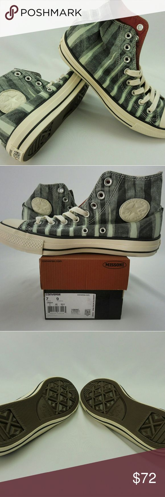 Converse, NWT, All Star Chuck Taylor, Missoni Converse, NWT, All Star Chuck Taylor, Missoni CT HI, Black/Mint Converse Shoes Sneakers
