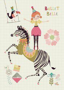 Poster Bee Brown Ballet Belle