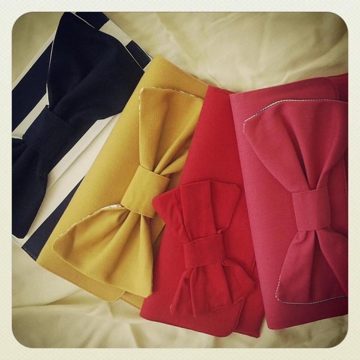 Ladybag #handmade bags#ladybag#clutches#bow#navy clutch