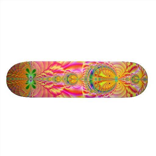 colorful fractal skate board