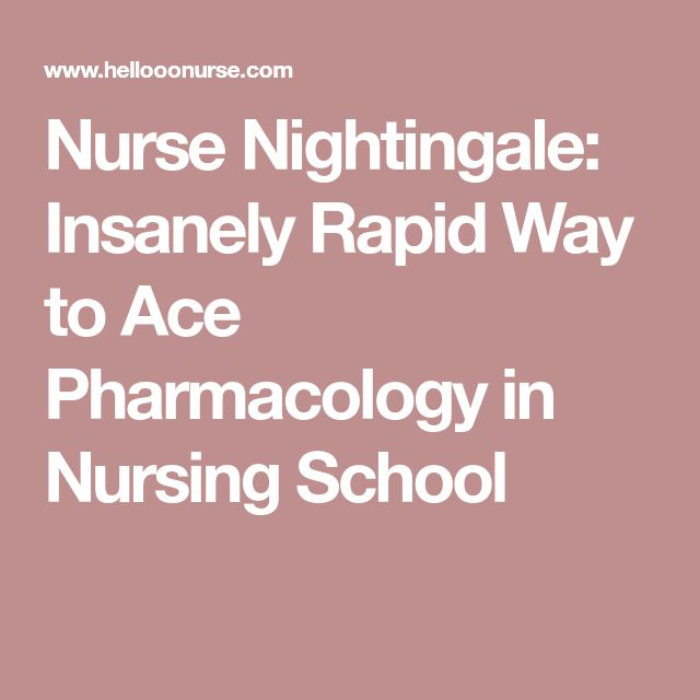Nurse Nightingale: Insanely Rapid Way to Ace Pharmacology in Nursing School