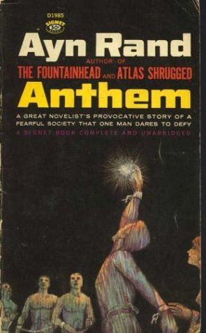 A #novella review of Anthem by Ayn Rand- a scary #dystopian where the word 'I' doesn't exist.