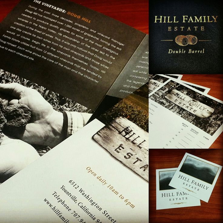 A collage of some of the recent printing work we've done for Hill Family Estate. #hillfamilyestate #winery #sonomacounty #businessprinting