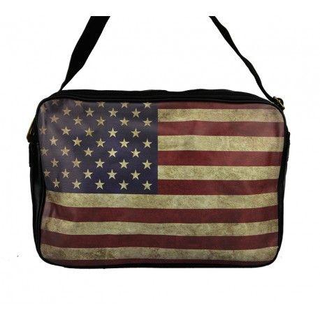 Praktisk og flot taske med Stars and Stribes flaget. - 3115