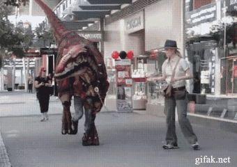 Raptor Cosplay GIF. So good.