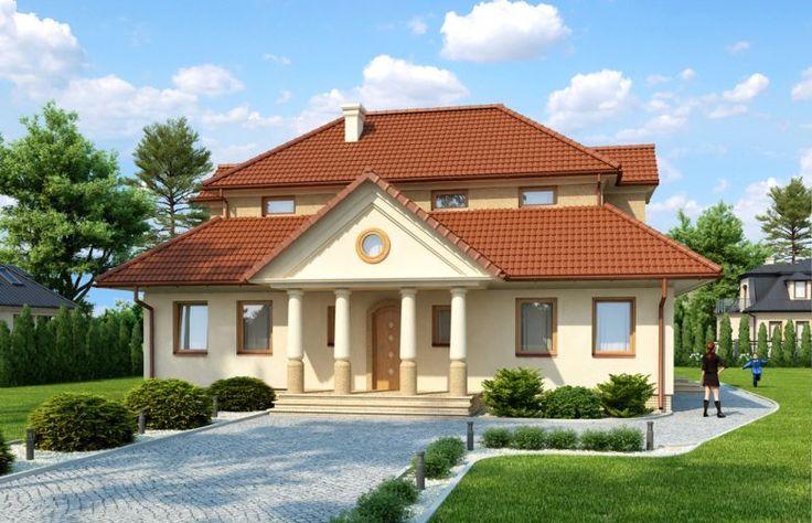 Dom jednorodzinny parterowy z poddaszem mieszkalnym, bez podpiwniczenia.