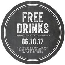 Free Drinks Save The Dates