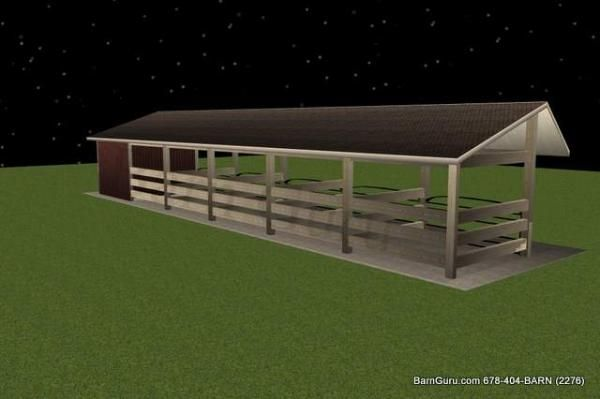 5 Stall Horse Barn Plan...simple but useful!