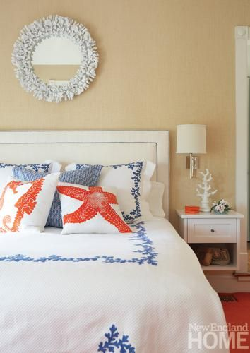 Coral And Blue Bedroom Accents Part 82