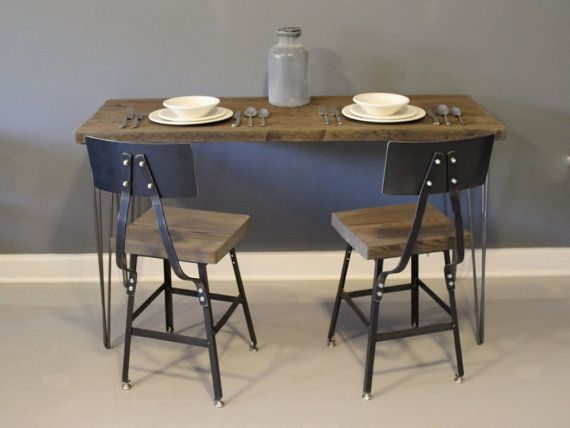 best hairpin leg table obsession  on Pinterest