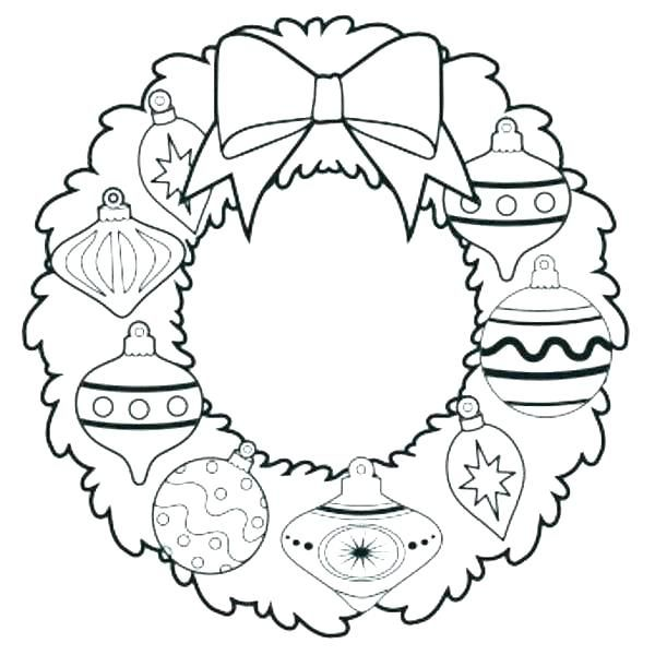 Advent Coloring Pages Page 7 Wreath To Print Free Ornament Wr