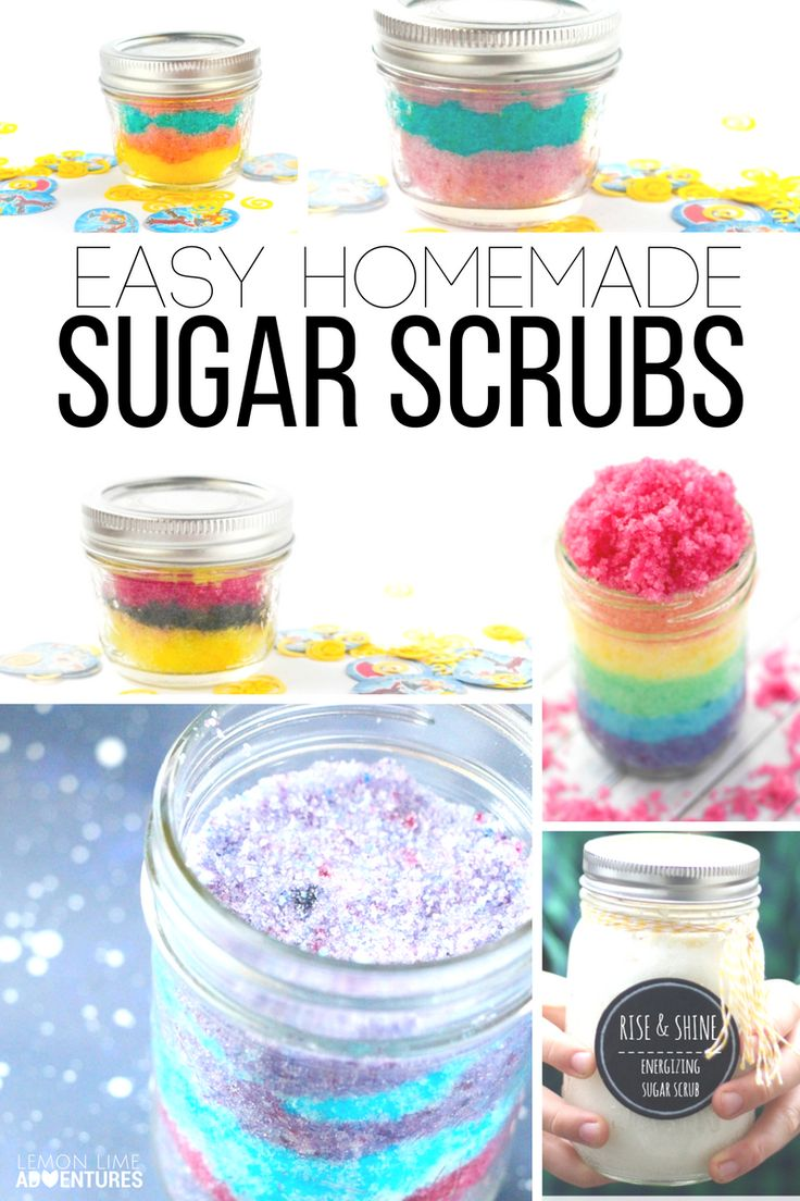 Easy Homemade Sugar Scrub Recipes | Perfect for DIY gifts and a great idea for a Homemade Christmas Gift
