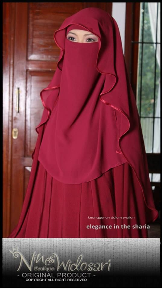 Are you a niqabi trying to go outside the simple single layer niqab style? Try wearing a butterfly cut with a matching abaya.