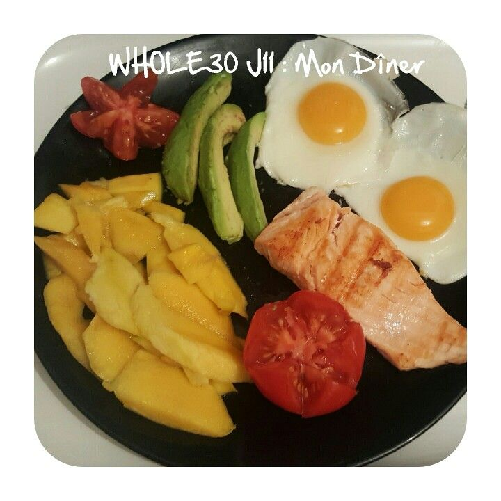 Fb : bewhole30bysulo  1 mangue 1 tomate 1/2 avocat 1 pavé de saumon poêlé (froid) 2 oeufs au plat  #bewhole30bysulo #wholefoods #whole30 #wholerecipes #santé #bio #healthyliving #healthy #glutenfree #lactosefree #whole365 #yummie #wholechallenge #goodlife #dinner #goodlifefitness #whole2017 #wholelife #wholelifebalance #foodstagram #regimeusemotivee #motivated #vitality #vitalfood #weightlossdiary #wholelifebalance #lifestyle #vitality #whole30france