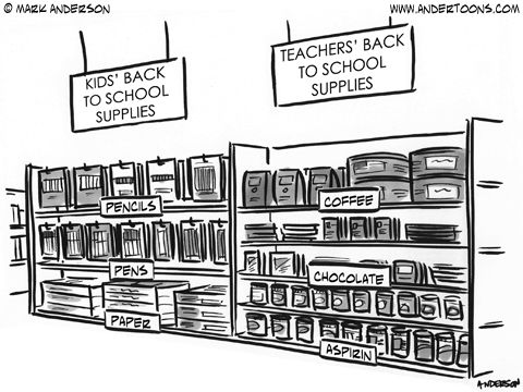 20 Education Cartoons For Back To School. What would be on your shelf?
