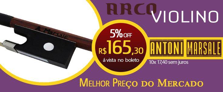 ARCO PARA VIOLINO ANTONI MARSALE SÉRIE 101  O antoni marsale série 101 é um arco para violino que oferece excelente envergadura, peso adequado e acabamento maravilhoso.