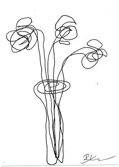 Simple Contour Line Drawings Of Flowers : The best flower line drawings ideas on pinterest