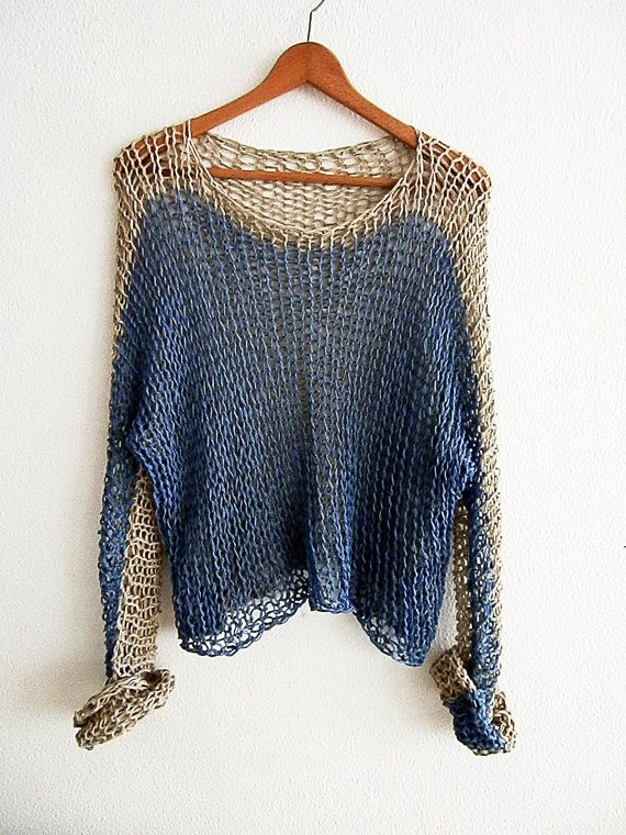 Cotton summer sweater Woman cotton sweater  Loose knit wear
