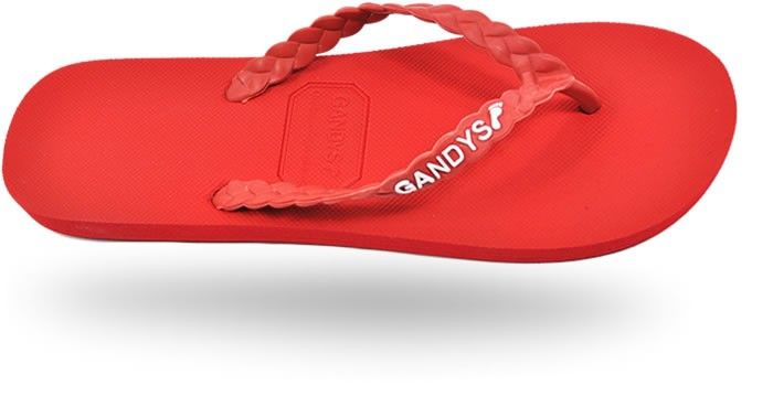 Gandys Originals Flip Flops - Necker Red