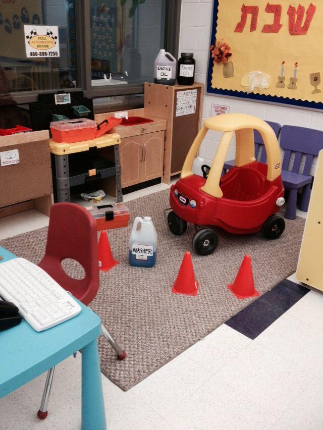 Mechanic 39 s garage dramatic play preschool pinterest for Garage auto b2